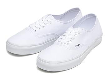 【VANS】 ヴァンズ AUTHENTIC オーセンティック VN-0EE3W00 TRUE WHITE