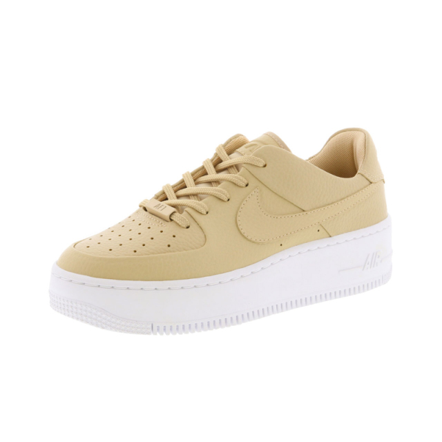NIKE Womens AF1 SAGE LOW AR5339-100 WMNS - DESERT ORE-WHITE