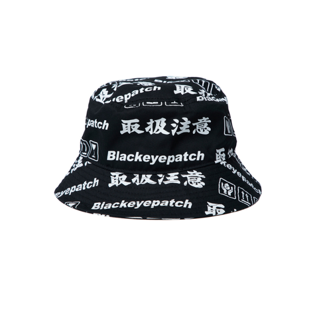 BlackEyePatch ブラックアイパッチ  HANDLE WITH CARE BUCKET HAT