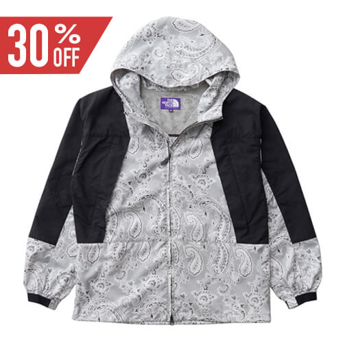 THE NORTH FACE PURPLE LABEL ノースフェイス パープルレーベル Paisley Print Mountain Wind Parka