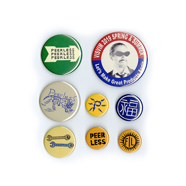 visvim ビズビム 2019SS PIN BADGE SET