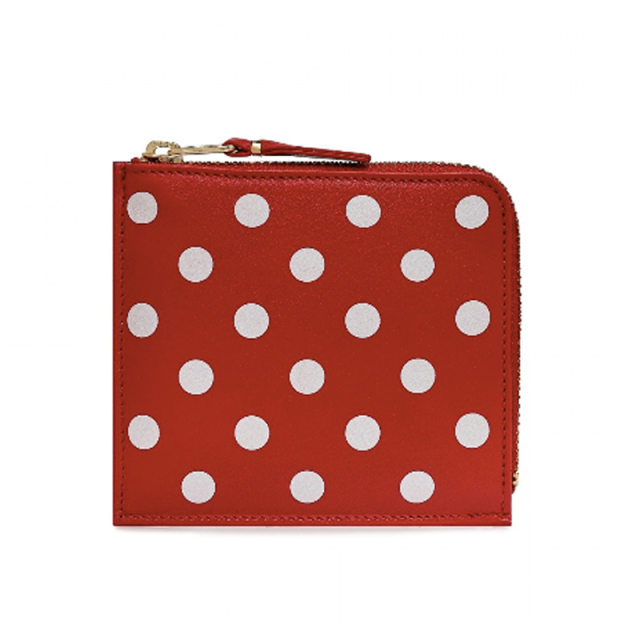 Wallet COMME des GARCONS Polka Dots Printed SA3100PD Red (8Z-E031-051)