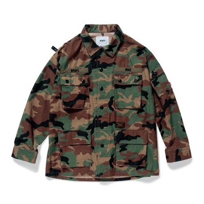 WTAPS ダブルタップス 2017AW JUNGLE LS 02 /SHIRT.COTTON.SATIN.CAMO