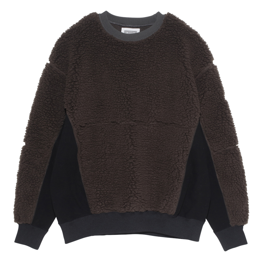 CE シーイー BOA FLEECE CREW NECK