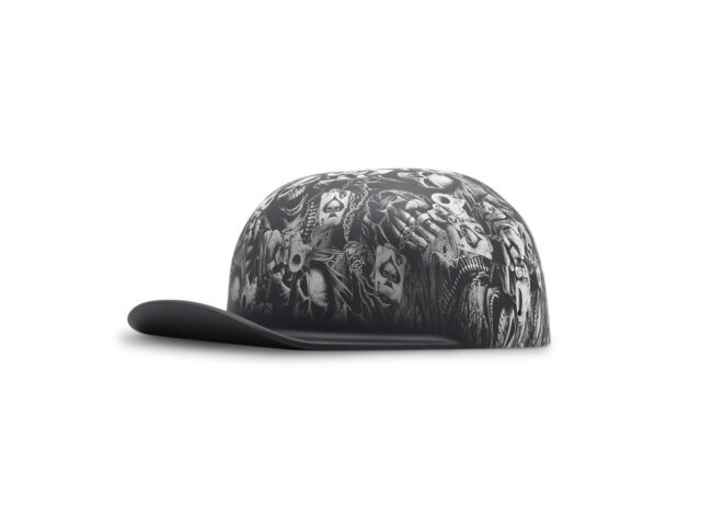 DOUGHBOY-Gangsta-Skull-Matte-Black-Brim