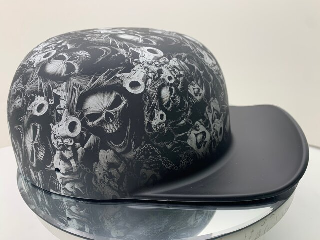 DOUGHBOY-Gangsta-Skull-Matte-Black-Brim