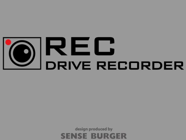 ≪ステッカー・デカール≫REC DRIVE RECORDER 2枚セット 黒 ブラック