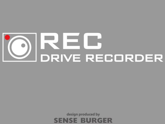 ≪ステッカー・デカール≫REC DRIVE RECORDER 2枚セット 白 ホワイト