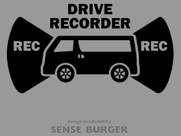 ≪ステッカー・デカール≫REC RECORDER_van 黒 ブラック