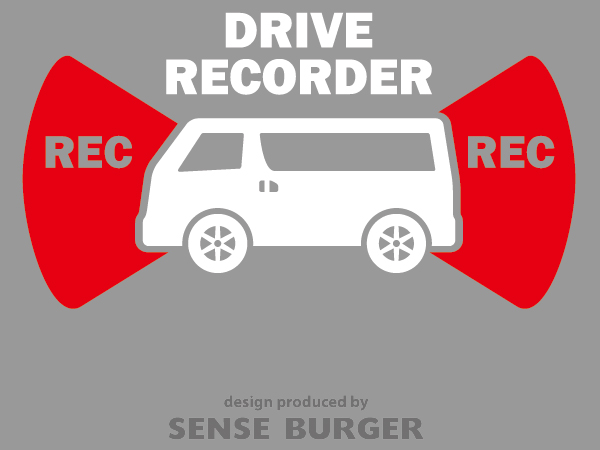 ≪ステッカー・デカール≫REC RECORDER_van 赤 レッド