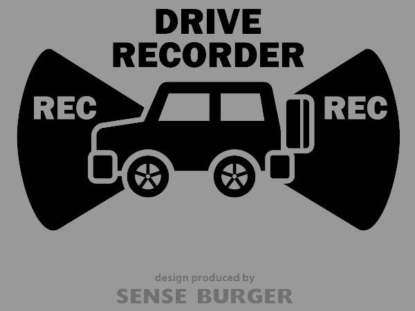 ≪ステッカー・デカール≫REC RECORDER_4wd 黒 ブラック