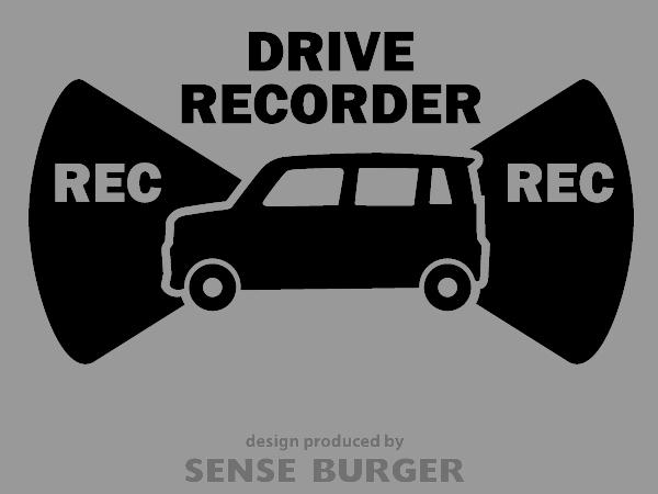 ≪ステッカー・デカール≫REC RECORDER_light 黒 ブラック