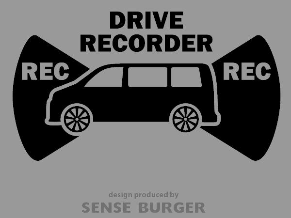 ≪ステッカー・デカール≫REC RECORDER_box 黒 ブラック