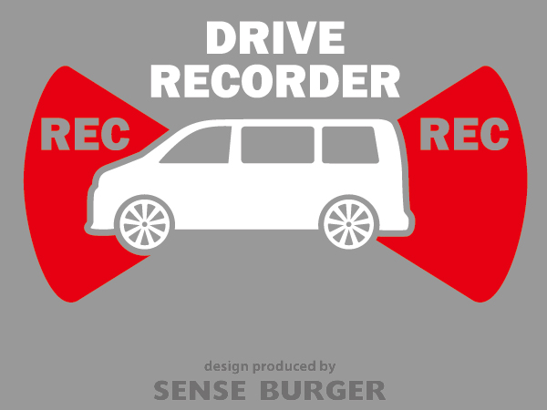 ≪ステッカー・デカール≫REC RECORDER_box 赤 レッド