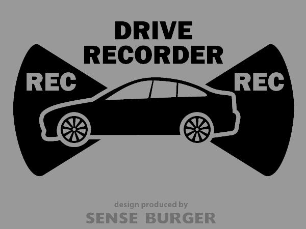 ≪ステッカー・デカール≫REC RECORDER_sedan 黒 ブラック