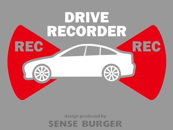 ≪ステッカー・デカール≫REC RECORDER_sedan 赤 レッド