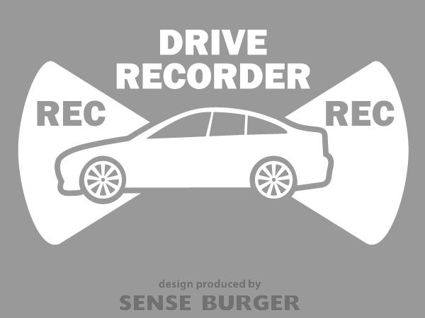 ≪ステッカー・デカール≫REC RECORDER_sedan 白 ホワイト