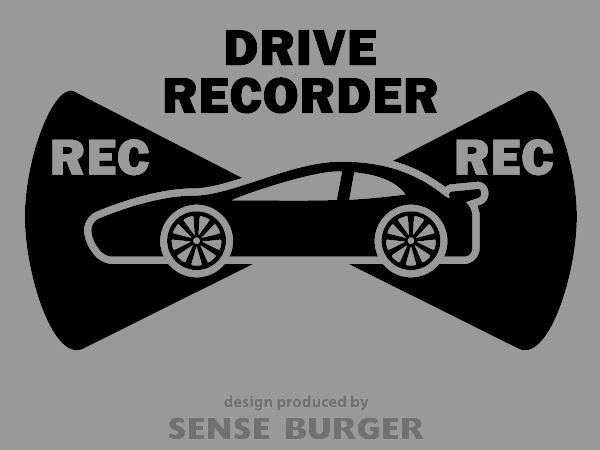 ≪ステッカー・デカール≫REC RECORDER_sports 黒 ブラック