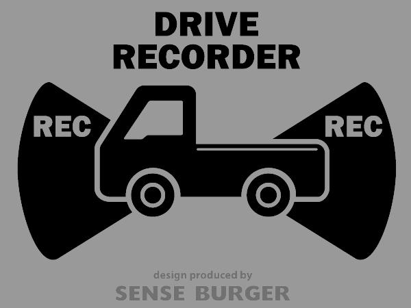 ≪ステッカー・デカール≫REC RECORDER_truck 黒 ブラック