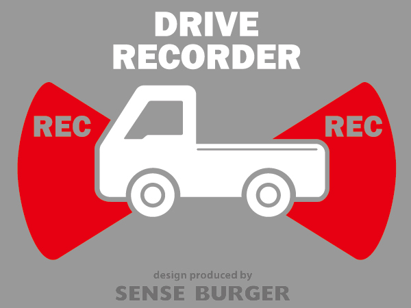 ≪ステッカー・デカール≫REC RECORDER_truck 赤 レッド