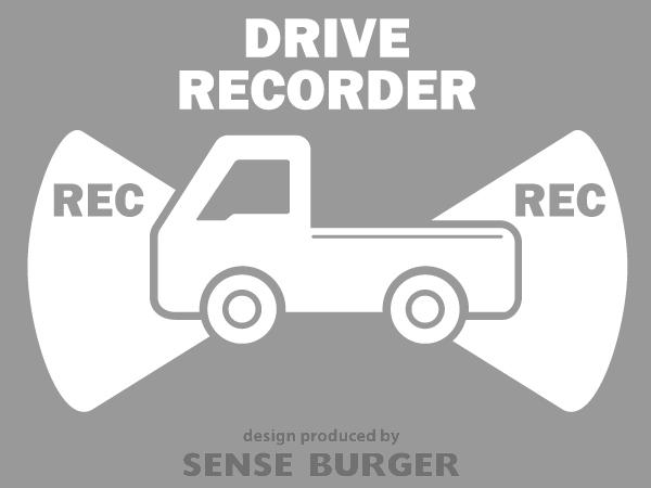 ≪ステッカー・デカール≫REC RECORDER_truck 白 ホワイト