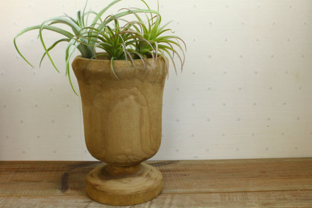 カービングカップ 木製鉢 鉢カバー