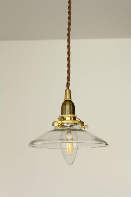 ミニガラスシェード+灯具+LED電球セット