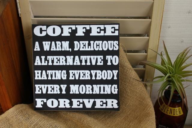 ウッデンミニサインボード/COFFEE FOREVER