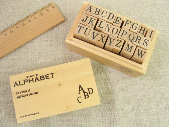 アルファベットスタンプ