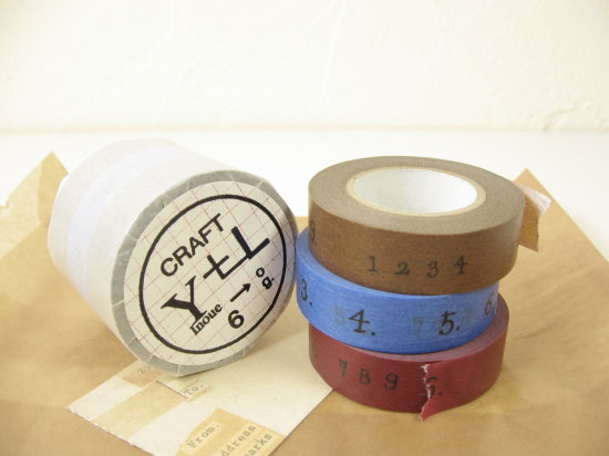 数字マスキングテープ3色セット