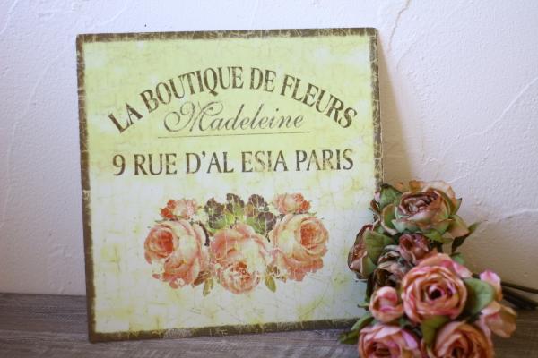 シャビーティンプレート・LA BOUTIQUE DE FLEURS