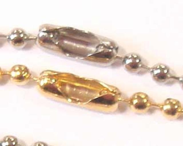 ボールチェーン用コネクタ 1.5mm専用コネクタ 2.3mm専用コネクタ B15000-88  B23000-88 シルバー、ゴールドがあります。