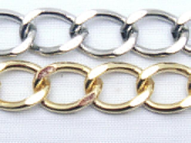 キヘイ真鍮チェーン 8ミリ幅 C12000-08 メートル売りと、まき(30メートル)売りがあります。 。カラーはシルバー、ゴールドとなります。