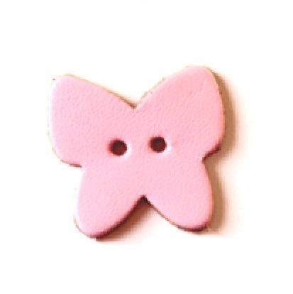 革パーツ 蝶(ちょう) 穴アキ ボタン(2.3mmの穴アキ) H82111 良質本革と水汚れにも強い合皮と両方の素材があります。