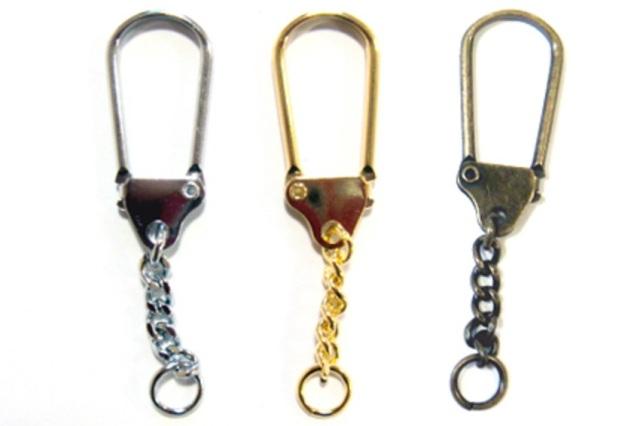 チェーン付 フック式 キーホルダー金具 キーホルダーパーツ K60000。 カラーはシルバー、ゴールド、アンティークとなります。