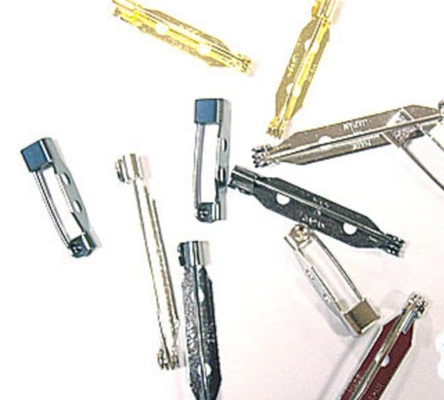 ウラピン 造花ピン 安全ピン式 日本製(ブローチピン コサージュピン)サイズは、15mm 20mm 25mm 30mm 35mm。