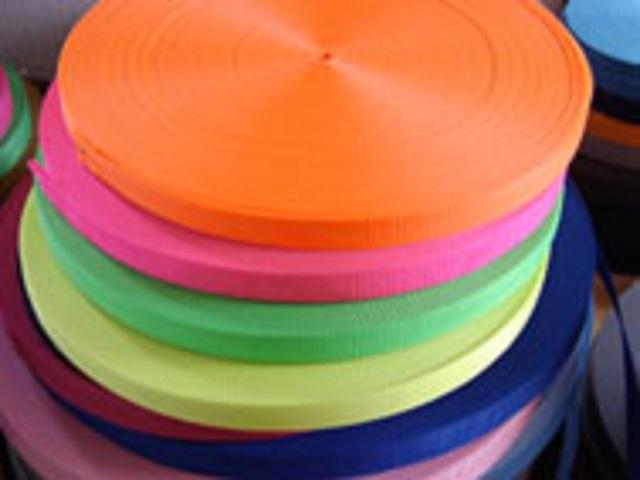 日本製 蛍光PPテープ 10ミリ、15ミリ、18ミリ、20ミリ、25ミリ、30ミリ幅です。