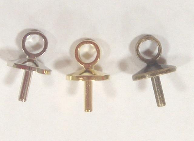ヒートン お買い得品 Q22000 0.8mm内径×5.5mm長さ カラーは、シルバー、ゴールド、ブロンズ、があります。