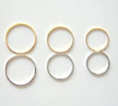 平面カットリング マルカン ダイキャスト合金 つなぎなしリング 日本製 15ミリ、17ミリ、20ミリ、サイズあります。 カラーはシルバー、ゴールド、となります。