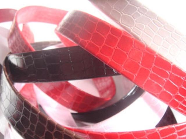 レザー ベビークロコダイルテープ(合成皮革) SK21000 日本製。サイズは10ミリ、15ミリ、20ミリがあります