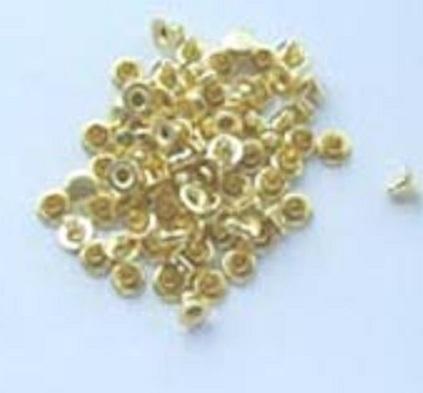 極小カシメ(片面) ばら売り、箱売り、がございます  カラーは、シルバー、ゴールド、ABKです。