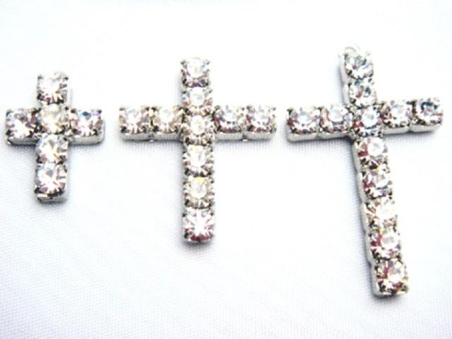 チャーム ダイヤクロス(十字架) X12810 ヘッド部分サイズ 15ミリ、25ミリ、34ミリ。カラーはシルバー、ゴールドがあります。