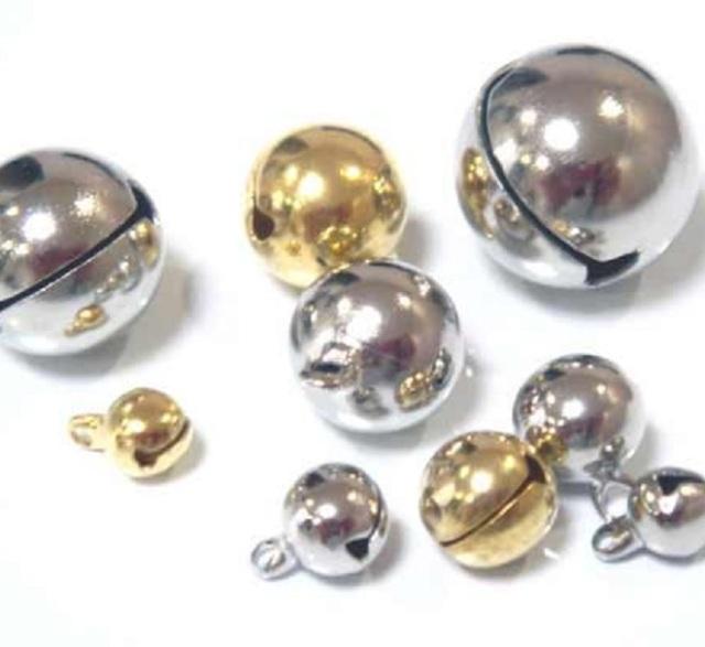 宝来鈴、サイズ  6ミリ(2分)、8ミリ(2.5分)、10ミリ(3分)、13ミリ(4分)、15ミリ(5分)、18ミリ(6分)があります。カラーはシルバー、ゴールドです。