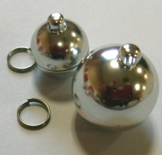 ピルケース丸型アルミ製(二重リング付き) X80880 15ミリ、20ミリ、サイズがあります。