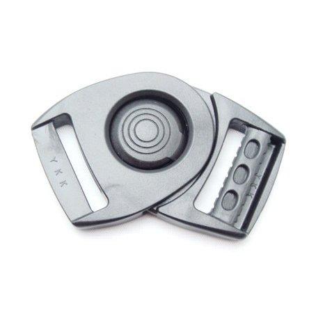 YKKテープアジャスターバックル フロントリリースタイプ LB-Q 20ミリ、25ミリ、30ミリ、38ミリサイズがあります