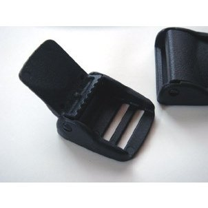 YKKテープアジャスターコキ カバー付き LA-CBシリーズ 20ミリ、25ミリ、サイズがあります カバーを閉じることによりロックがかかります