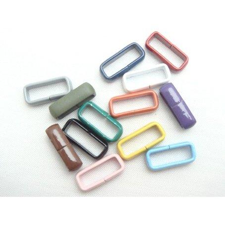 カラーサルカン(鉄素材を塗装) ヒモ止め  ヒモ押さえ 日本製 10ミリ、15ミリ、サイズがあります。