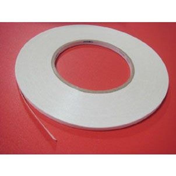 業務用両面テープ 仮止め用 5ミリ幅、10ミリ幅。50メートル巻きとなります。