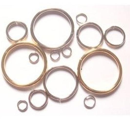 マルカン鉄製 マル線マルカン 50mm(ヒモ、テープ幅用) 。線の太さは、4.0ミリ。 つなぎ目のあるマルカン溶接(ロー付け)品もあります。日本製 シルバー、ゴールド、アンティークがあります。