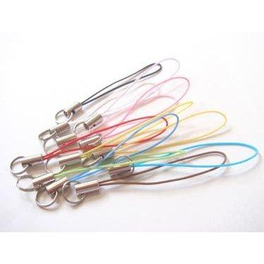 お買い得 ストラップ 紐 ストラップパーツ ストラップ金具 マルカン付き 金具カラーはシルバー、ヒモのカラーは11色あります。
